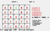 Puzzle Squares Atari ST Three letters back in place