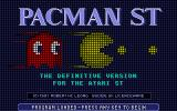 Pacman ST Atari ST Title screen