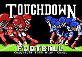 Touchdown Football Atari 7800 Title screen