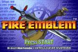 Fire Emblem Game Boy Advance Title screen