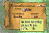 Fire Emblem Game Boy Advance The game allows some customization options for your character