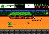 Alien Brigade Atari 7800 An alien runs by while prisoners escape