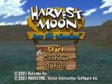 Harvest Moon: Save the Homeland PlayStation 2 Title Screen & Main Menu.