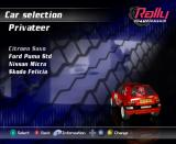 Rally Championship GameCube Car select (Privateer)