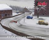 Rally Championship GameCube Demo mode in the Arctic Lapland Rally, a drifting Havoline Subaru Impreza.