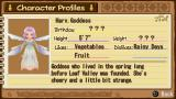 Harvest Moon: Hero of Leaf Valley PSP Character Profile for Harvest Goddess.