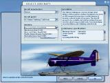Roaring Thirties Windows Stinson Gullwing, aircraft selection menu.