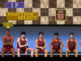 Slam Dunk: I Love Basketball SEGA Saturn Position select.