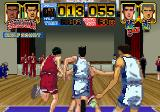 Slam Dunk: I Love Basketball SEGA Saturn Do some blocking.
