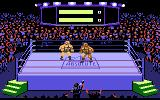 Title Match Pro Wrestling Atari 7800 Beginning a match
