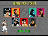 Mortal Kombat Amiga Fighter screen selection
