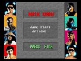 Mortal Kombat Amiga Options screen