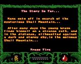 The Legend of the Lost Temple Acorn 32-bit Story introduction
