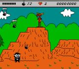 The Adventures of Rocky and Bullwinkle and Friends NES Lovely scenery!