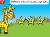 Giraffe's PreSchool Playground 2 iPad If you click the 'Parents' button, then you have to hold all three stars to get to the 'Parents' menu.