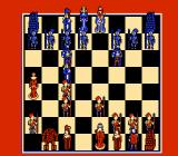 Battle Chess NES Game in progress, Rook on the move (bottom left)