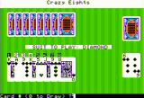 Crazy Eights Apple II Start of a game
