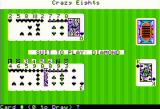 Crazy Eights Apple II Playing with computer cards faced up