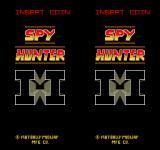 Spy Hunter II Arcade Title screen. No matter one or two players it's always split screen