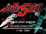 Indy 500 PlayStation Title screen.