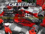 Indy 500 PlayStation Car settings.