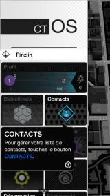 Watch_Dogs Companion: ctOS Android Main game menu (French version)
