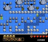 Arkista's Ring NES Shot of stage 9 (looks cold)