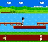 "Athletic World NES The event ""Log Hopping"""