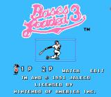 Bases Loaded 3 NES Title screen