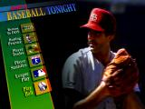 ESPN Baseball Tonight DOS The main menu