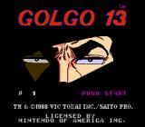 Golgo 13: Top Secret Episode NES Title screen
