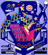 Pinball Action Arcade Panel: Poker Cards