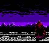 Ninja Gaiden II: The Dark Sword of Chaos NES Opening cinematic - Ashtar strikes a pose.