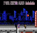 Ninja Gaiden II: The Dark Sword of Chaos NES Fighting on the streets.