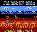 Ninja Gaiden III: The Ancient Ship of Doom NES Ryu prepares to duke it out in the desert