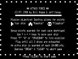 Attack Force TRS-80 Instructions