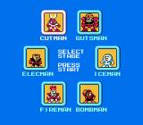 Mega Man NES Selecting which boss to go up against