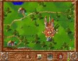 Serf City: Life is Feudal Amiga The castle of your enemy is on fire meaning you conquered him.