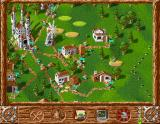 Serf City: Life is Feudal Amiga Your empire consists of many buildings representing different professions.
