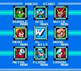 Mega Man 2 NES Choosing which boss to challenge