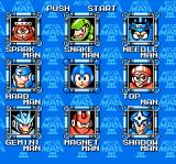 Mega Man 3 NES Choosing which boss to go up against
