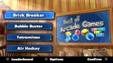 Best of Arcade Games PS Vita Main menu (Trial version)