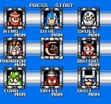 Mega Man 4 NES Choosing which boss to go up against
