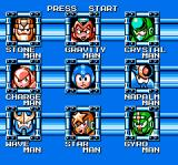 Mega Man 5 NES Choosing which boss to go up against