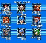 Mega Man 6 NES Choosing which boss to go up against