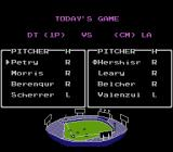 R.B.I. Baseball 3 NES The 1984 Detroit Tigers take on the 1988 Los Angeles Dodgers