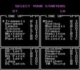 R.B.I. Baseball 3 NES Choosing lineups - notice that retired players' names are not used