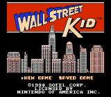 Wall Street Kid NES Title screen