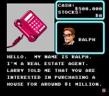 Wall Street Kid NES You receive a call from Ralph, the real estate agent