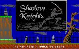 Shadow Knights DOS Title Screen
